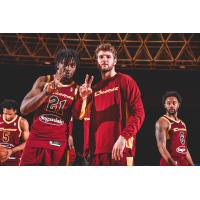 Canton Charge forward Tyler Cook and teammates