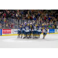 Sioux Falls Stampede react after a shootout win