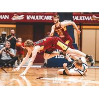 Canton Charge guard J.P. Macura against the Westchester Knicks
