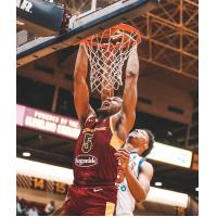 Canton Charge center Marques Bolden dunks against the Westchester Knicks