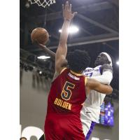 Canton Charge center Marques Bolden defends against the Stockton Kings