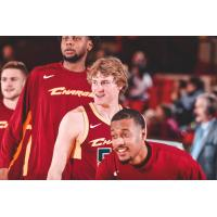Canton Charge guard J.P. Macura (center) vs. the Long Island Nets