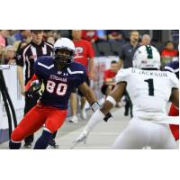 Sioux Falls Storm wide receiver Brandon Sheperd vs. the Green Bay Blizzard