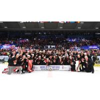 Canada celebrates the 2020 IIHF World Junior championship