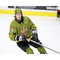 Forward Cameron Peters with the North Bay Battalion
