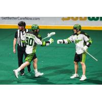 Saskatchewan Rush forwards Ben McIntosh and Ryan Keenan