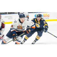 Greenville Swamp Rabbits defenseman Dylan MacPherson vs. the Norfolk Admirals