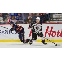 Vancouver Giants centre Tristen Nielsen against the Kamloops Blazers