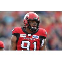Calgary Stampeders defensive lineman Mike Rose