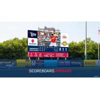 Rome Braves new HD videoboard at State Mutual Stadium