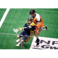 Shayne Jackson of the Georgia Swarm makes a move against the New England Sea Wolves