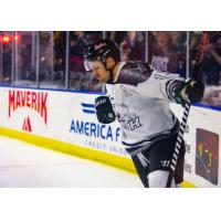 Utah Grizzlies forward Mitch Maxwell reacts after his shootout winner