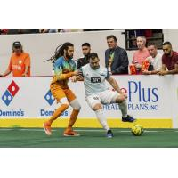 St. Louis Ambush forward Duduca Carvalho with possession against the Florida Tropics