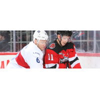 Binghamton Devils center Brett Seney vs. the Laval Rocket