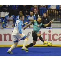 St. Louis Ambush and Utica City FC vie for the ball