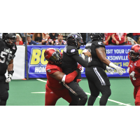 Jacksonville Sharks defensive lineman Keith Bowers