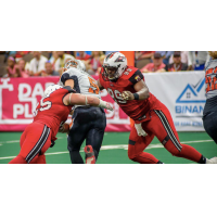Jacksonville Sharks defensive lineman Damien Jacobs