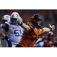 Defensive tackle David Menard with the BC Lions