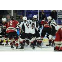 Vancouver Giants battle the Red Deer Rebels