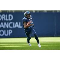 Defensive back Kevin Fogg with the Toronto Argonauts