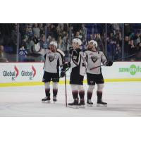 Vancouver Giants acknowledge the crowd