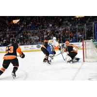 Lehigh Valley Phantoms goaltender Kirill Ustimenko vs. the Syracuse Crunch