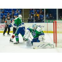 Zane McIntyre with the Utica Comets