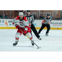 Defenseman Fredrik Claesson with the Charlotte Checkers