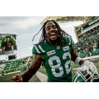 Receiver Naaman Roosevelt with the Saskatchewan Roughriders
