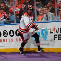 Forward Thomas Hoggarth with the Buffalo Bandits