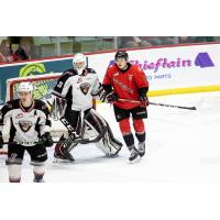 Vancouver Giants goaltender Drew Sim vs. the Prince George Cougars