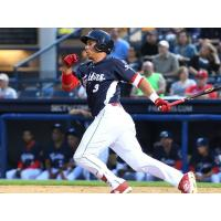 Outfielder Jan Hernandez with the Reading Fightin' Phils