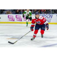 Forward Adam Hall with the Lethbridge Hurricanes