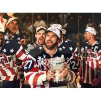 Rochester Americans celebrate their win in Game 7 of the 1996 Calder Cup Finals