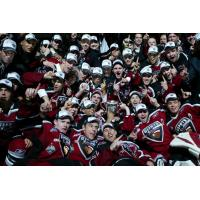 Vancouver Giants celebrate the 2007 Memorial Cup Championship