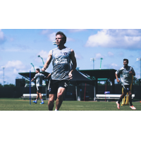 Jackson Yueill trains alongside his San Jose Earthquakes teammates in Orlando, FL