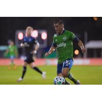 Nico Lodeiro captained Seattle Sounders FC in its first competitive action in four months Friday evening against the San Jose Earthquakes