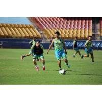 Raul Mendiola in training with Las Vegas Lights FC