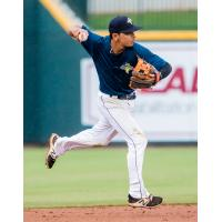 Infielder Andres Gimenez with the Columbia Fireflies