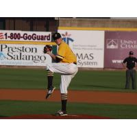 J.T. Brubaker pitching for the West Virginia Power