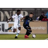 Colorado Springs Switchbacks FC with possession vs. Austin Bold FC