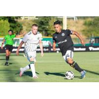 Tacoma Defiance with possession against Portland Timbers 2