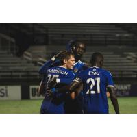 Charlotte Independence celebrates a goal
