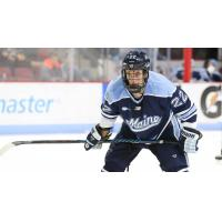 Forward Brendan Robbins with the University of Maine