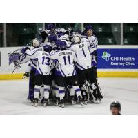Tri-City Storm celebrate an overtime win