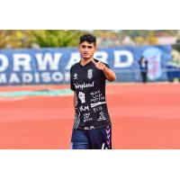 Forward Madison FC defender Gustavo Fernandes