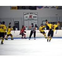Maryland Black Bears react after a goal against the New Jersey Titans