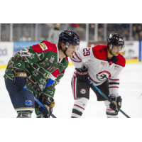 Sioux Falls Stampede in their holiday-themed jerseys face the Waterloo Black Hawks