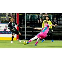 St. Louis Ambush take a shot against the Dallas Sidekicks