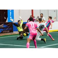 St. Louis Ambush goalkeeper Paulo vs. the Florida Tropics